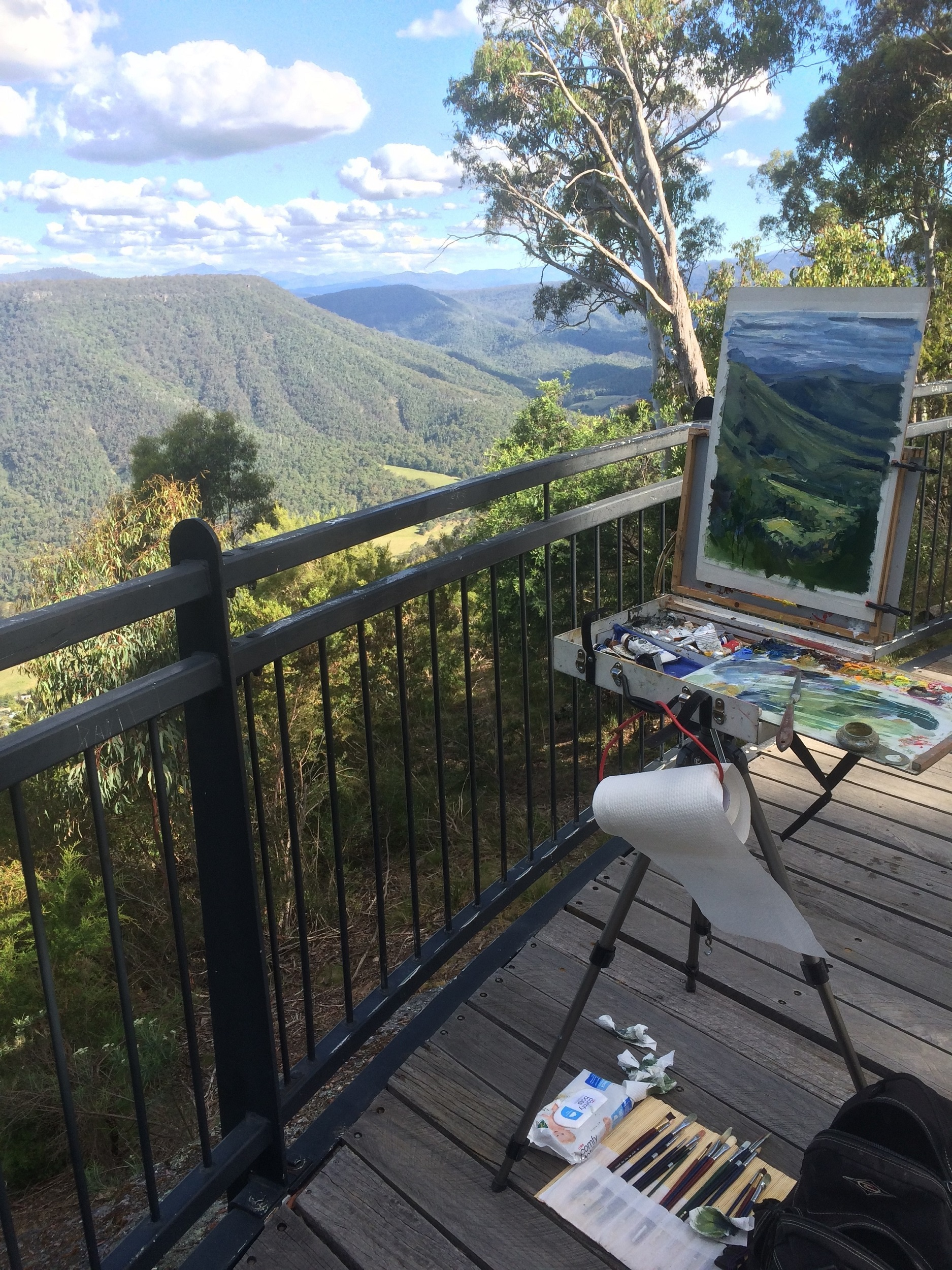 Plein air from Powers Lookout.